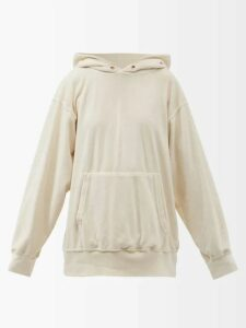 Balenciaga - Pleated Lavalliere Blouse - Womens - Red Print