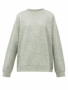 Raey - Crew Neck Cashmere Blend Sweatshirt - Womens - Grey