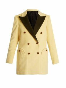 Blazé Milano - Classic Touch Everyday Velvet Lapel Blazer - Womens - Cream