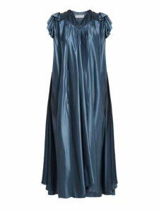 Balenciaga - Flou Dress - Womens - Blue