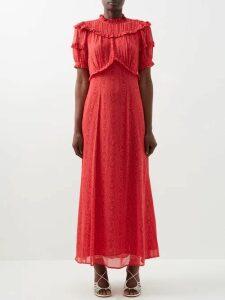 Valentino - Logo Intarsia Striped Stretch Knit Sweater - Womens - Pink Multi