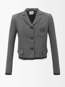 Valentino - High Neck Chantilly Lace Blouse - Womens - White