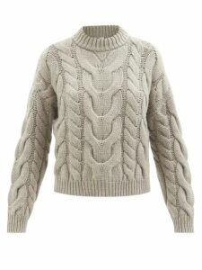 Stella Mccartney - Caban Elasticated Waist Crepe Trench Coat - Womens - Blue