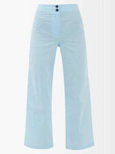 Valentino - Velvet Panel Satin Dress - Womens - Burgundy