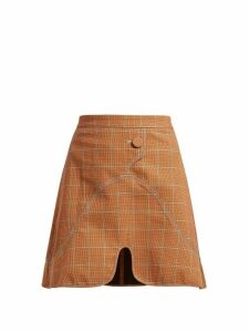 Ellery - Milky Way Check Mini Skirt - Womens - Brown Multi