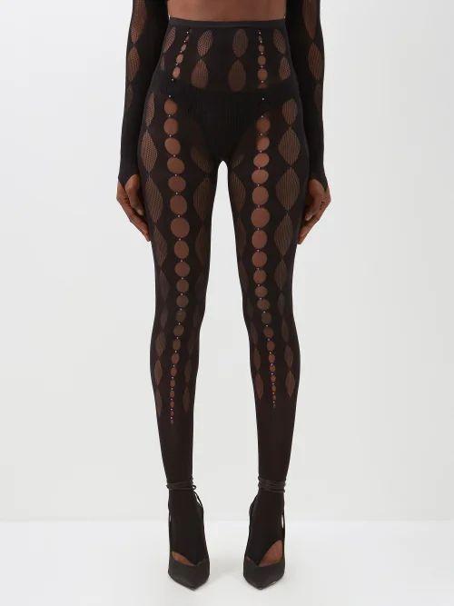 Luisa Beccaria - Striped Jacquard Panelled Skirt - Womens - Pink Stripe