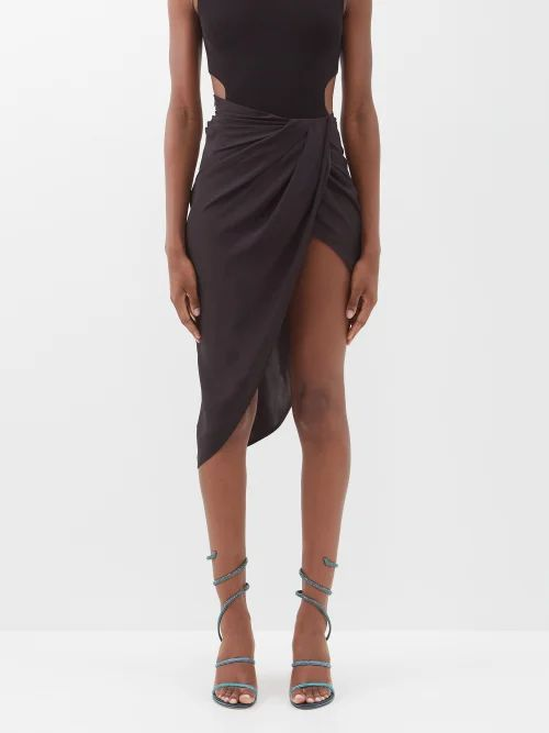 Rebecca Taylor - Striped Cotton And Linen Blend Skirt - Womens - White Stripe