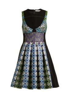 Mary Katrantzou - Narcisse Circle Jacquard Dress - Womens - Blue Multi