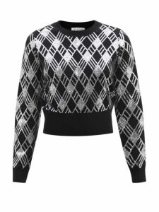 Marni - Geometric Print Maxi Dress - Womens - Blue Print