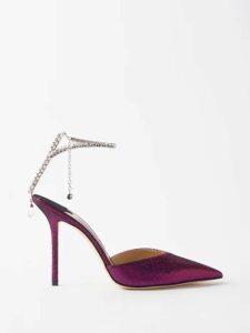 Balenciaga - Floral Print Twisted Silk Dress - Womens - Purple Print