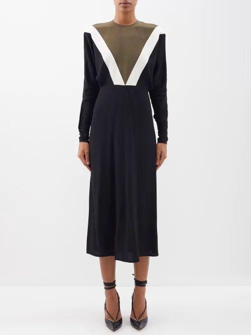 Chloé - Mid Rise Wool Blend Skirt - Womens - Light Brown
