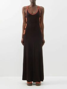Chloé - Mid Rise Wool Blend Skirt - Womens - Light Brown