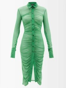 Bella Freud - Nova Crepe Puff Shoulder Dress - Womens - Red