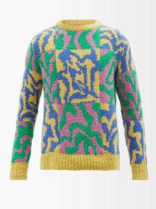Sea - Ethno Pop Tiered Washed Silk Midi Dress - Womens - Green Multi