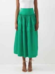 Roland Mouret - Bruce Draped Silk Blend Jacquard Dress - Womens - Light Pink
