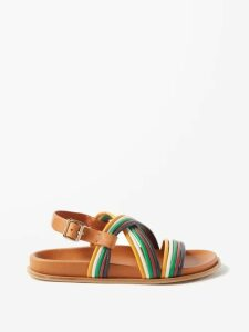 Peter Pilotto - Embroidered Asymmetric Crepe Cady Skirt - Womens - Blue Multi
