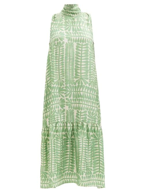 Sportmax - Spot Panel Mid Length A Line Dress - Womens - Black White