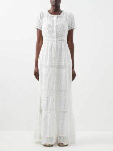 Alexachung - Open Back Floral Jacquard Dress - Womens - Pink