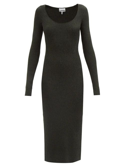 Peter Pilotto - Graphic Spot Print Silk Wrap Dress - Womens - Navy Multi