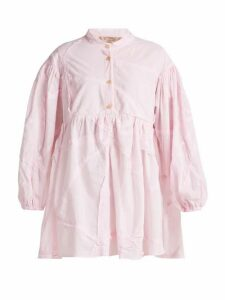 By Walid - Theresa Patchwork Cotton Shirt - Womens - Light Pink