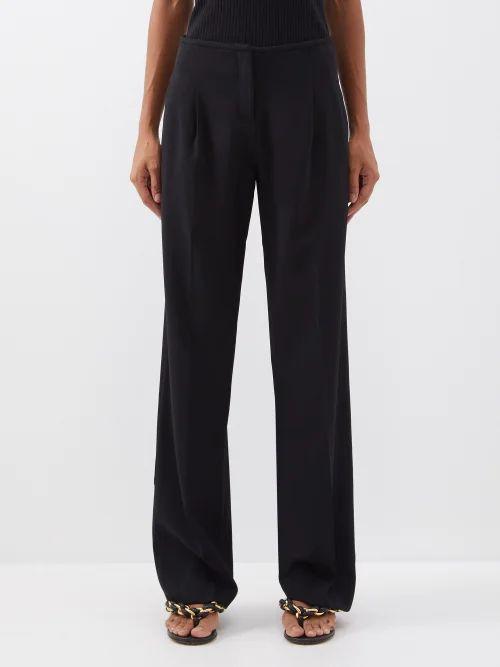 Redvalentino - Abito Puff Sleeve Jersey Dress - Womens - Black