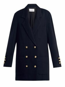 Raey - Drop Shoulder Wool And Cashmere Blend Blazer - Womens - Navy