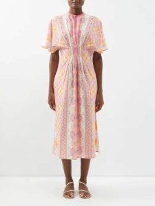 Altuzarra - Choukri Floral Print Top - Womens - Pink Print