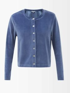Sonia Rykiel - Leather Pocket Wool Blend Tweed Blazer - Womens - Brown Multi