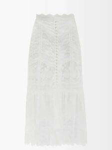 Nili Lotan - Farrow Camouflage Print Cotton Blend Trench Coat - Womens - Khaki