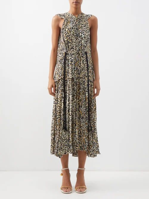 Isabel Marant Étoile - Dules Ruffle Collar Cotton Shirt - Womens - Red