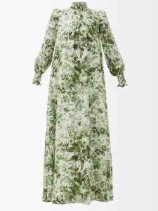 Myar - Double Breasted Wool Blend Gabardine Coat - Womens - Navy