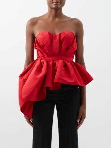 Alexander Mcqueen - Ruffle Rimmed Fil Coupé Jacquard Dress - Womens - Ivory Multi