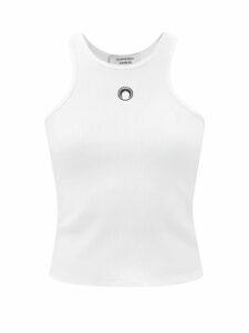 Osman - Fabiola Floral Embroidered Linen Dress - Womens - Blue Multi