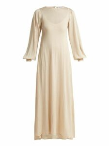 Ryan Roche - Two Layer Cashmere Blend Knit Dress - Womens - Cream