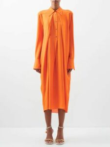 Prada - Tweed Bouclé Midi Dress - Womens - Yellow Multi