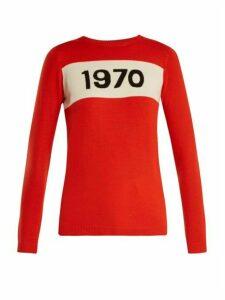 Bella Freud - 1970 Wool Sweater - Womens - Red