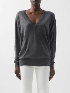 Valentino - High Neck Jersey Dress - Womens - Green