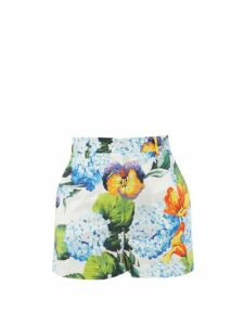 Diane Von Furstenberg - Contrast Panel Silk Crepe De Chine Top - Womens - Burgundy Multi