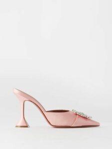 The Attico - Livia Rose Print Silk Chiffon Dress - Womens - Black Print