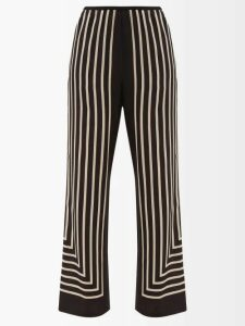 Sara Battaglia - Hound's Tooth Double Breasted Jacket - Womens - Black White