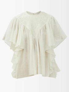 Peter Pilotto - Tiered Floral Print Tie Front Crepe Slip Dress - Womens - Multi