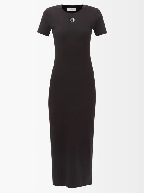 Christopher Kane - Ruffled Patent Leather Skirt - Womens - Black