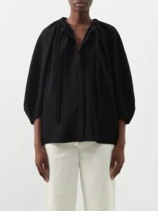 Redvalentino - Rickrack Trimmed Pleated Cotton Skirt - Womens - White