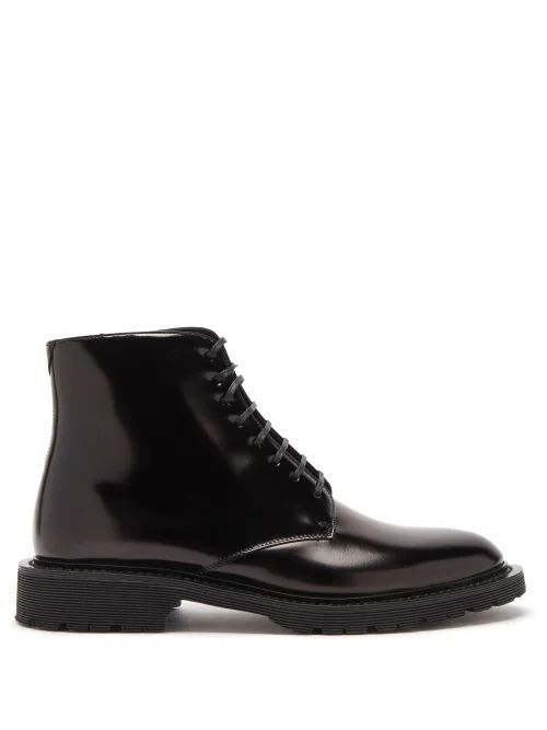 Raey - 1970s Tipped Shearling Coat - Womens - Pink Multi