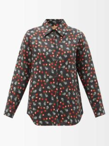 Chloé - Tweed Wool Blend Single Breasted Coat - Womens - Grey