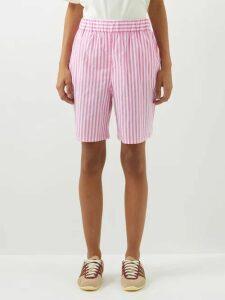 Hillier Bartley - Polka Dot One Shoulder Silk Dress - Womens - Navy White