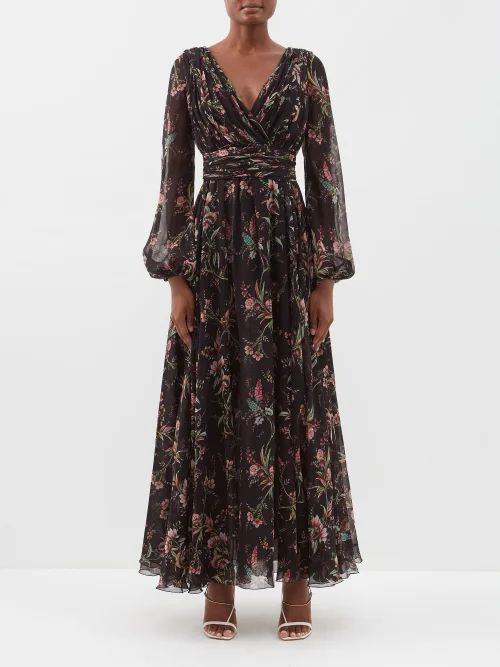 Msgm - Prince Of Wales Check Stretch Cotton Velvet Skirt - Womens - Light Pink