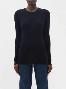Osman - Maxine Blouson Sleeve Crepe Dress - Womens - Red