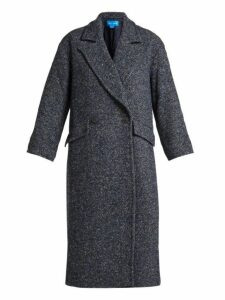 M.i.h Jeans - Stamp Double Breasted Tweed Coat - Womens - Navy
