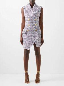 Richard Quinn - Floral Print Strapless Satin Dress - Womens - Black Print